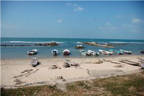 Fishing boats at the shoreline