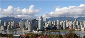 Downtown Vancouver from the southern side of False Creek