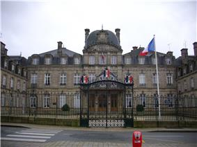 Prefecture building of the Morbihan department, in Vannes