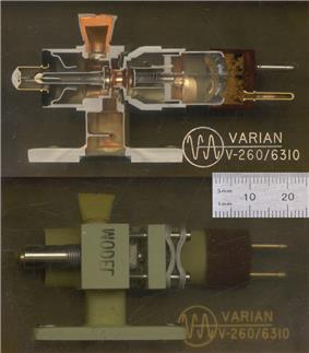 cutaway of a reflex klystron
