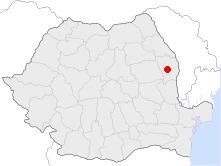 Location of Vaslui