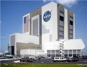 Vehicle Assembly Building and Launch Control Center at Kennedy Space Center