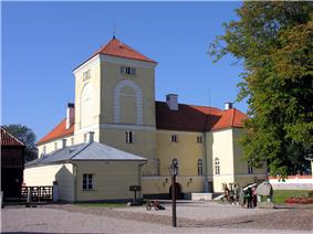 Ventspils Castle, built by the Livonian Order, and converted into a prison in 1832.