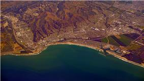 Ventura, California, viewed from the west