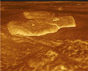 Volcanic dome observed from reprojecting stereo data