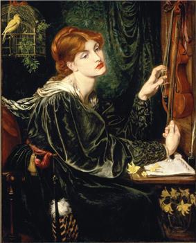 Painting of Alexa Wilding