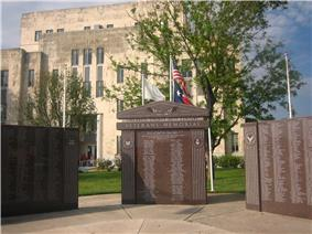 Veterans Memorial at the Childress County Courthouse (built 1939)