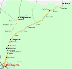 Albury line map
