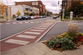 Downtown Saint-Lambert along Victoria Avenue
