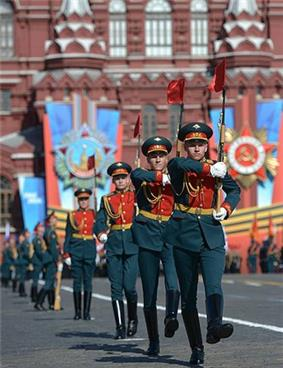 The 2014 Victory Day parade on Red Square