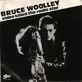 Bruce Woolley behind a horse, with the text