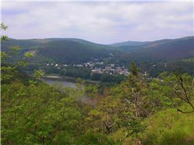 View of Shickshinny from the Mocanaqua Loop Trail