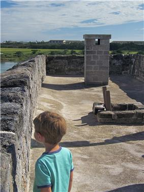 View of the roof of Fort Matanzas.jpg