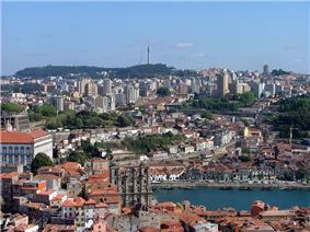 Vila Nova de Gaia seen from Porto.