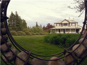The villa at the Jardins de Métis