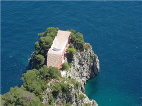 Villa Malaparte, from the clifftop