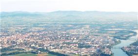A general view of Villefranche-sur-Saône
