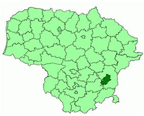 Location of Vilnius city municipality within Lithuania