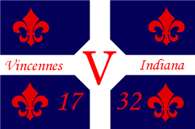 Flag of Vincennes, Indiana