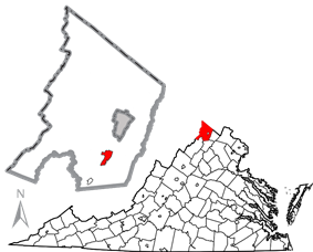 Location in Frederick County, Virginia