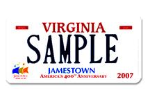 Virginia state license plate