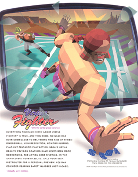North American arcade flyer of Virtua Fighter.