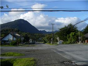 The town of Chaitén in 2007