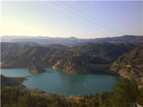 Fuensanta reservoir in 2008