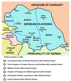 Location of Vojvodina