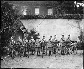 Volunteer cyclist group Bury St Edmunds Suffolk England.jpg