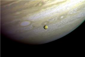 A transit of Io across Jupiter, July 9, 1979