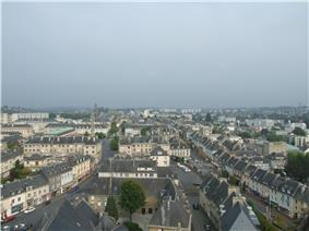 A view of Saint-Lô from the Notre-Dame church ()