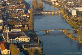 An aerial view of the centre of Châtellerault