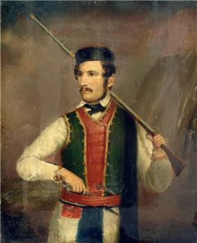 Warrior in Montenegrin mountain garb