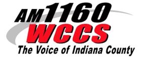 AM 1160 WCCS Logo