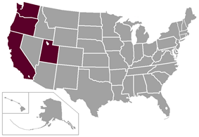 West Coast Conference locations