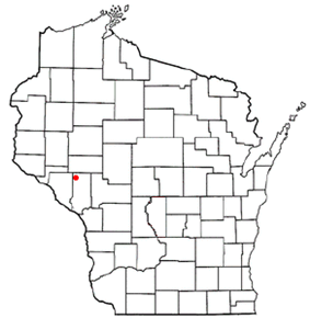 Location of Albion, Trempealeau County, Wisconsin
