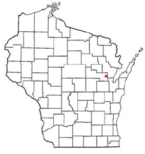 Location of Angelica, Wisconsin
