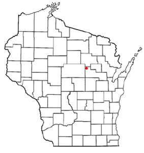 Location of Aniwa (town), Wisconsin