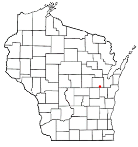 Location of Appleton within Wisconsin
