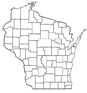 Location of Brussels, Wisconsin