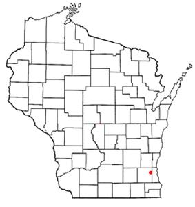 Location of Elm Grove, Wisconsin