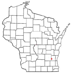 Location of Hartford, Wisconsin, Wisconsin
