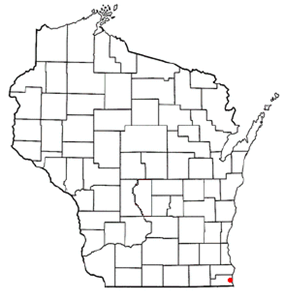 Location of Kenosha within Wisconsin