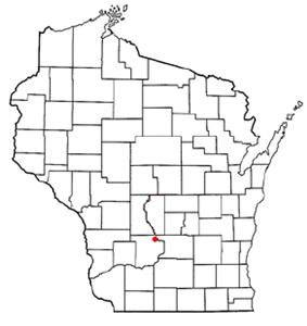 Location of Lake Delton, Wisconsin