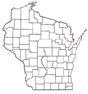 Location of Marinette, Wisconsin