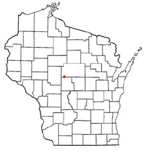 Location of Marshfield, Wisconsin