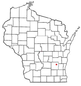 Location of Mayville, Wisconsin