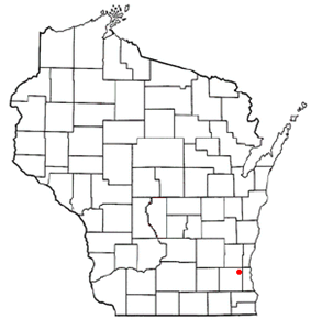 Location of Menomonee Falls, Wisconsin