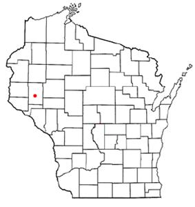 Location of Menomonie, Wisconsin